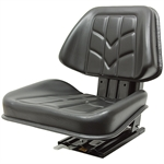 512 Universal Tractor Seat w/Adjustable Suspension Black Talon 512000BK