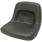155 Black High Back Steel Pan Seat Black Talon 155000BK
