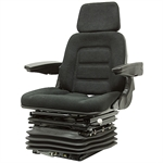 330 Deluxe Seat w/Suspension, Swivel, Armrests Black Talon 330001BK