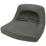 150 Low-Back Black Steel Pan Seat