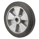 "12"" x 2"" Solid Rubber Tire on Aluminum Wheel"