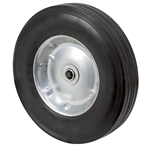 "10"" x 2-1/2"" Solid Rubber Wheel w/Offset Hub"