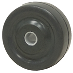 3x1-1/4 Grey Rubber Wheel w/Delrin Bearing