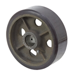 "6"" x 2"" Polyurethane Tread on Cast Iron Wheel"