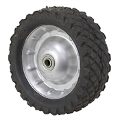 "10-1/4"" x 3-1/4"" Semi-Pneumatic Rubber Wheel"