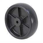 "5"" x 1-1/2"" Black Plastic Wheel"