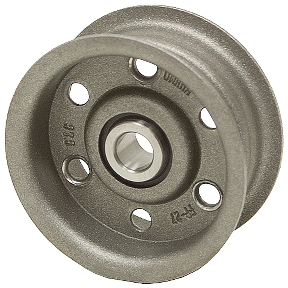 Idler Pulley : Od bore groove flat belt idler pulley