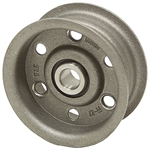 3.25 OD 1/2 Bore 1 Groove Flat Belt Idler Pulley