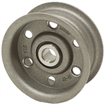 4.5 OD 1/2 Bore 1 Groove Flat Belt Idler Pulley