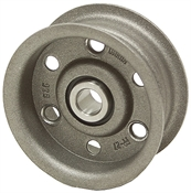 4.5 OD 5/8 Bore 1 Groove Flat Belt Idler Pulley