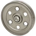 5 OD 1/2 Bore 1 Groove Pressed Steel Idler Pulley