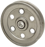 5 OD 5/8 Bore 1 Groove Pressed Steel Idler Pulley