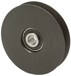4 OD 1/2 Bore A-Belt Solid Steel Idler Pulley