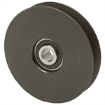 4 OD 1/2 Bore B-Belt Solid Steel Idler Pulley