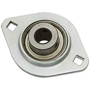 1 Steel Flanged Bearing w/Lock Collar