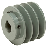 3.75 OD 1 Bore 3 Groove Pulley