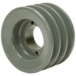 9.75 OD H-Bushing Triple Groove Pulley