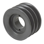 4.25 OD H-Bushing Triple Groove Pulley