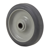 "5"" x 1-3/16"" Grey Thermoplastic Rubber Wheel"