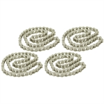 SET OF 4 41 NICKEL PLATED ROLLER CHAIN 59 LINKS