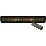 "4"" x 26"" LED PROGRAMMABLE SCROLLING SIGN"