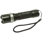 Rechargeable Black Swat Police Style Led Flashlight