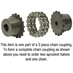 "5/8"" Bore Coupler Sprocket 50P16T - Alternate 2"