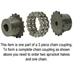 "1-1/2"" Bore 60 Pitch 18 Tooth Chain Coupler Half - Alternate 2"