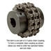 "2-7/16"" Bore 60 Pitch 18 Tooth Chain Coupler Half - Alternate 1"