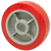 6x2 Red Polyurethan/Polyolefin 1-3/16 Wheel