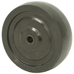 4x1.25 Soft Rubber Wheel 3/8 Bore