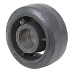 6x2.5 Black Rubber Tread on Cast Iron Wheel