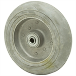 8X2.25 Donut Rubber Tire On Aluminum Wheel