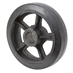 10x2.5 Cast Iron Wheel with Rubber Tread - Alternate 1