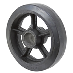 10x2.5 Cast Iron Wheel with Rubber Tread