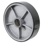 "10"" x 2-1/2"" Polyurethane Tread on Cast Iron Wheel"