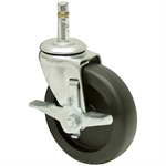 4x15/16 Faultless Grip Ring Swivel Caster w/Brake