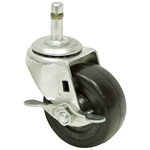 3x1-1/4 Faultless Grip Ring Swivel Caster w/Brake
