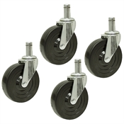 5x1-1/4 Albion Grip Ring Swivel Caster Set Of 4