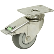 3x1-1/4 Swivel Plate Caster w/Directional Lock