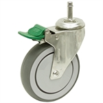 5x1-1/4 Medcaster Grip Ring Swivel Caster w/Lock