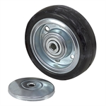 "4"" x 1-1/4"" Rhombus Solid Rubber Wheel 32C100AZ"