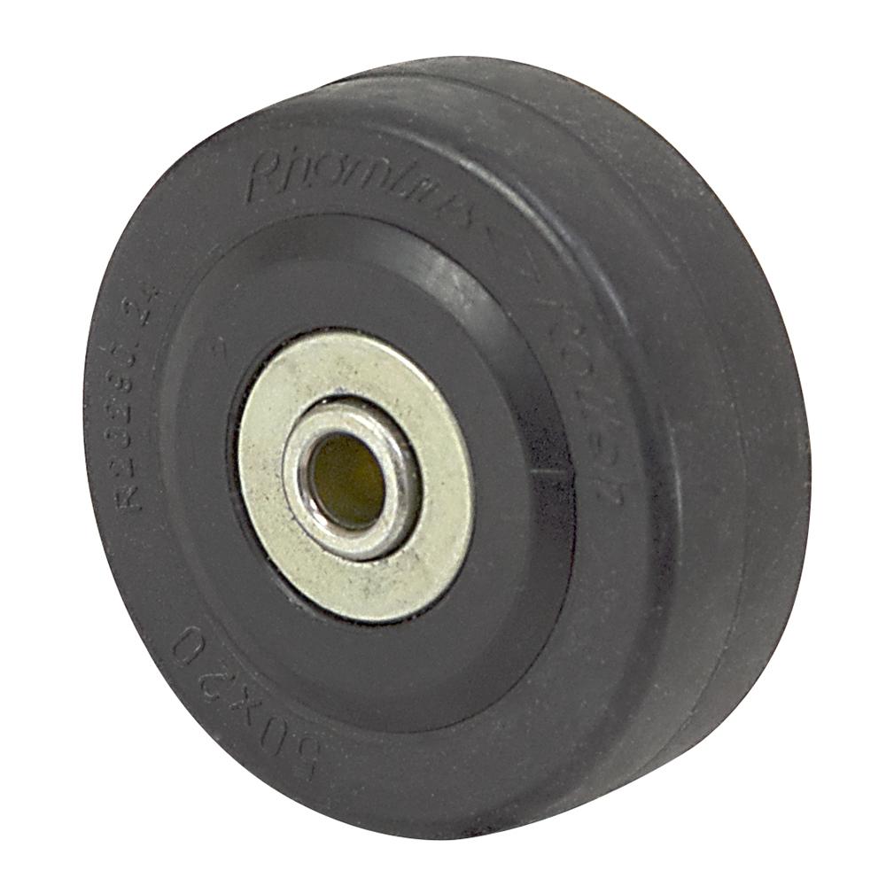 2 Quot X 11 16 Quot Rhombus Solid Rubber Wheel 33c050bz Caster