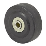"2"" x 11/16"" Rhombus Solid Rubber Wheel 33C050BZ"