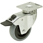 2-61/64 x 29/32 Rhombus Swivel Plate Caster w/Brake & Directional Lock
