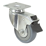 "3"" x 3/4"" Rhombus Swivel Plate Caster w/Wheel And Swivel Lock"