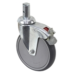 5-15/16 x 1-1/4 Rhombus Swivel Stem Caster w/Brake And Swivel Lock