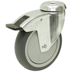 4-15/16x1-1/4 Bolt Hole Caster w/One Position Swivel Lock