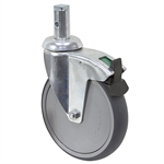 5-15/16 x 1-1/4 Rhombus Swivel Stem Caster w/ Swivel Lock
