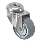 "3"" x 1-1/8"" RHOMBUS SWIVEL BOLT-HOLE CASTER"